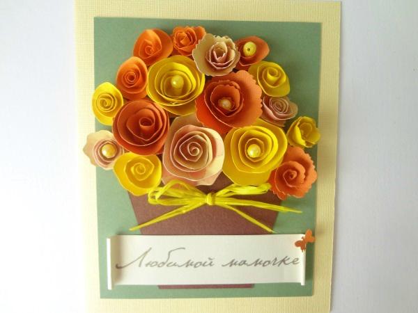 Красивые открытки своими руками на день рождения бабушке поэтапно